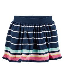 Carter's Striped Skort - Navy Blue Pink Sea Green