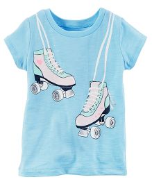 Carter's Rollerskate Graphic Tee - Light Blue
