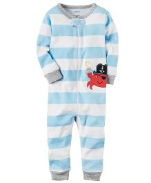 Carter's Infant Sleepsuit - Blue White