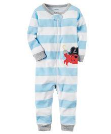 Carter's Infant Sleepsuit - Blue White