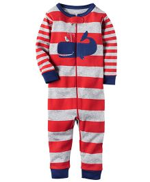 Carter's Infant Sleepsuit - Red Grey