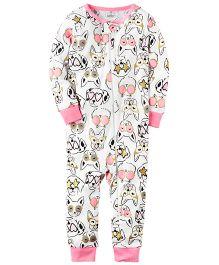 Carter's Infant Sleepsuit - White Pink