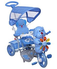 Mee Mee 2 in 1 Baby Tricycle with Rocking Function with Canopy Blue