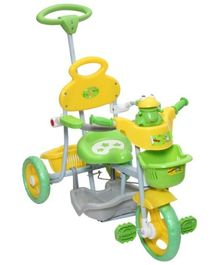 Mee Mee Baby Tricycle with Rocker Function (2 in 1) and Easy-to-Push Handle Green