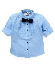 The KidShop Tuxedo Shirt With A Classy Bow - Blue