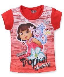 Eteenz Short Sleeves Top Dora Print - Carrot White