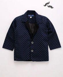 Knotty Kids Shirt Style Blazer - Dark Blue