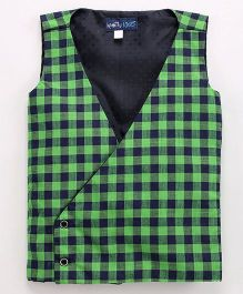 Knotty Kids Casual Checkered Coat - Green