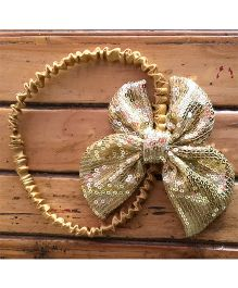Flutterbows Sequin Butterfly Design Headband - Golden