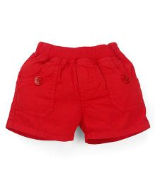 Olio Kids Solid Colour Pull On Shorts - Red