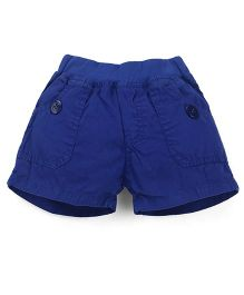 Olio Kids Solid Colour Pull On Shorts - Royal Blue