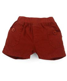 Olio Kids Solid Colour Pull On Shorts - Brown