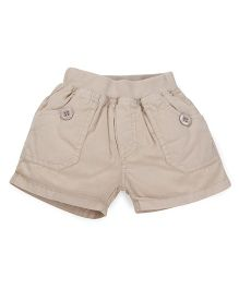 Olio Kids Solid Colour Pull On Shorts - Beige