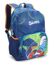 Smurfs 17 Backpack Blue - 16 Inches