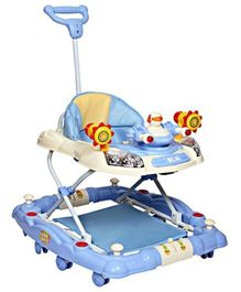 Mee Mee - Musical Baby Walker Cum Rocker With Push Handle Blue
