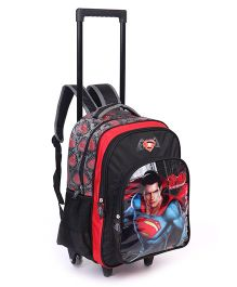 DC Comics Trolley Bag Superman Print Black Red - 18 Inches