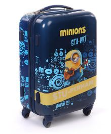 Minions Stu Perman Trolley Bag Blue - 20 Inches