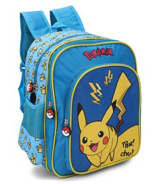 Disney Pokemon Pikachu School Bag Blue - 14 inch