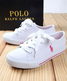 Polo Ralph Lauren Canvas Shoes - White Pink