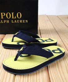Polo Ralph Lauren Flip Flops - Navy Yellow