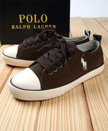 Polo Ralph Lauren Sneakers - Chocolate Brown & White