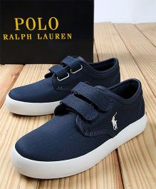 Polo Ralph Lauren Canvas Sneakers - Navy 7 White