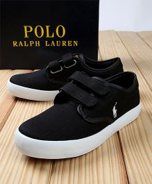 Polo Ralph Lauren Canvas Sneakers - Black & White