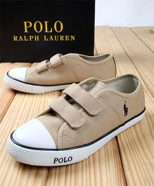 Polo Ralph Lauren Canvas Sneakers - Beige & White