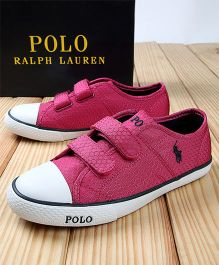 Polo Ralph Lauren Canvas Sneakers - Pink & White
