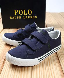 Polo Ralph Lauren Sneakers With Velcro Closure - Navy