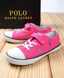 Polo Ralph Lauren Sneakers With Velcro - Pink
