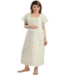 Eazy Maternity & Nursing Nighty - Yellow