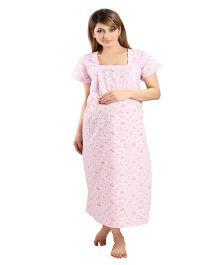 Eazy Maternity & Nursing Nighty - Pink