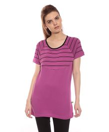 Goldstroms Solid Color Long Maternity Top - Pink
