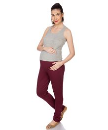Goldstroms Maternity Leggings - Maroon