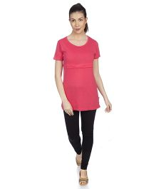 Goldstroms Long Maternity Top - Dark Peach