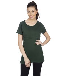 Goldstroms Long Maternity Top - Green