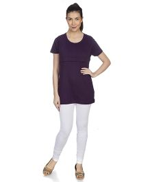 Goldstroms Long Maternity Top - Dark Purple