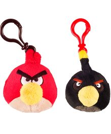 Angry Birds Back Pack Clip Pack Of 2 - Red Black
