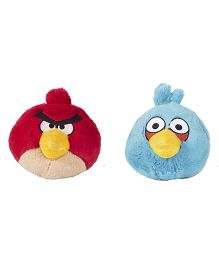 Angry Birds Soft Toys Pack Of 2 Red And Blue - 21 cm