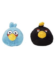 Angry Birds Soft Toys Pack Of 2 Blue And Black - 12 cm