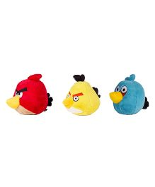 Angry Birds Soft Toys Pack Of 3 Red Yellow Blue - 12 cm
