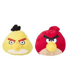Angry Birds Soft Toys Pack Of 2 Red And Yellow - 20 cm