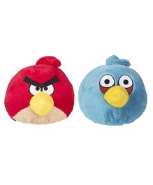 Angry Birds Soft Toys Pack Of 2 Red and Blue - 20 cm