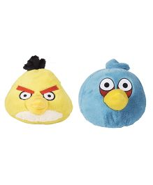 Angry Birds Soft Toys Pack Of 2 Yellow and Blue - 20 cm