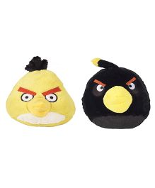Angry Birds Soft Toys Pack Of 2 Yellow And Black - 20 cm