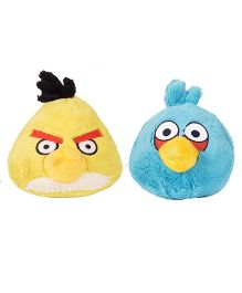 Angry Birds Soft Toys Pack Of 4 Red Yellow Blue Black - 20 cm
