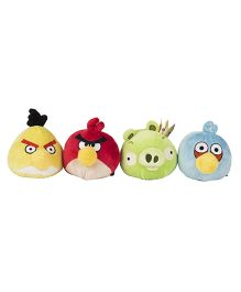 Angry Birds Soft Toys Pack Of 4 Red Blue Yellow Green - 10 cm