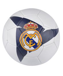 Kidsmojo Real Madrid Logo Print Football Size 5 - Blue & White