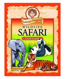 OutSet Media Prof Noggin's Wildlife Safari Card Game - Orange
